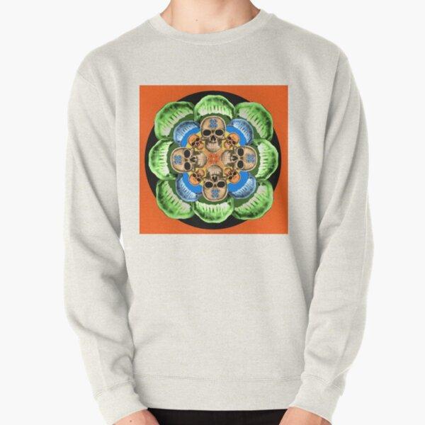 Bite Me! Skull Salad mandala Pullover Sweatshirt