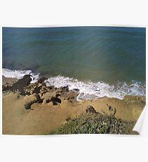 Ocean at the Cliffs Poster