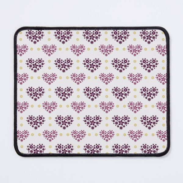 Hearts and Flowers Patterns Mouse Pad