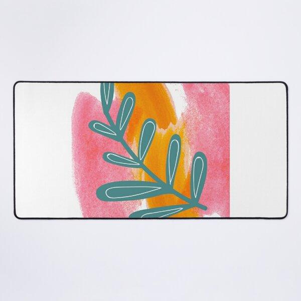 Paints and floral designs.Art paint Desk Mat