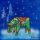 Dala Horses in Winter, Dala Horse III by Juli Cady Ryan