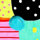 Polka Dots Abstract Happy Art by rupydetequila