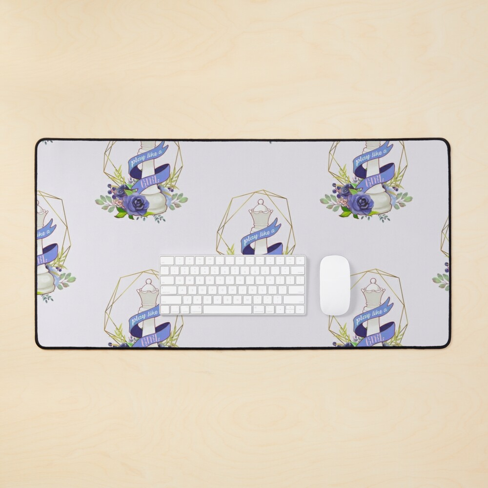 Queen's Gambit: Play Like a Girl Mouse Pad