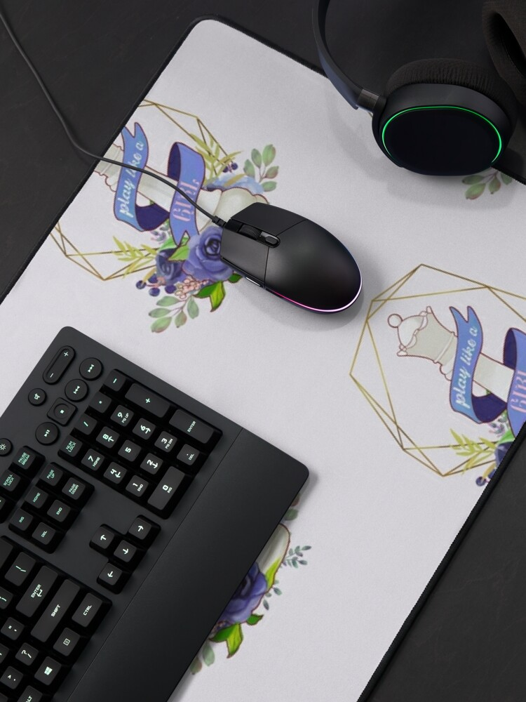 Alternate view of Queen's Gambit: Play Like a Girl Mouse Pad