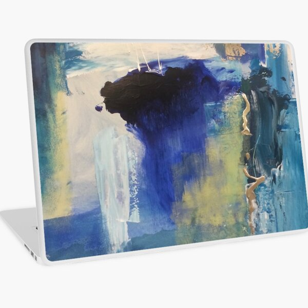 Blue Laptop Skin