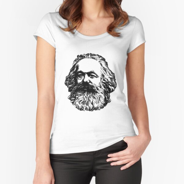 Karl Marx Fitted Scoop T-Shirt