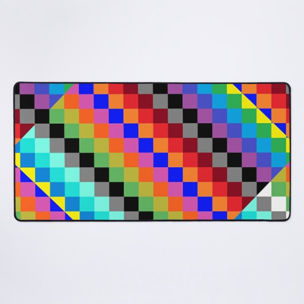 Colored Squares Desk Mat
