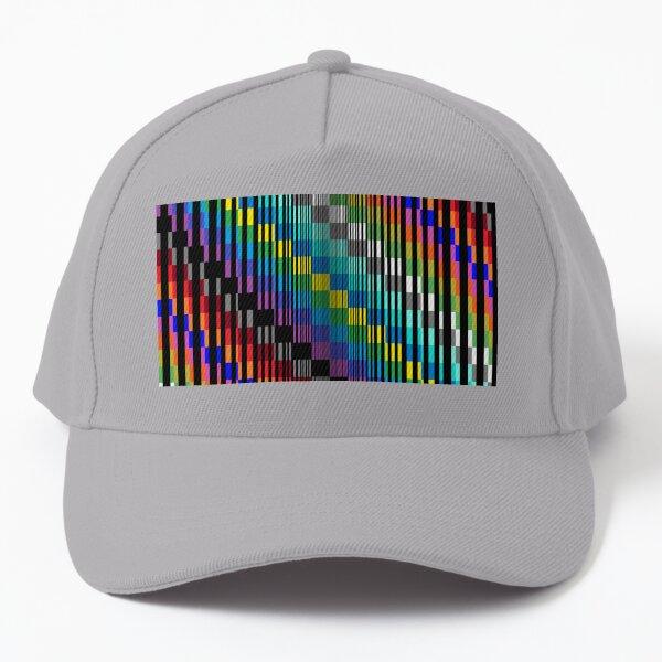 Vertical Trippy Colored Squares Baseball Cap