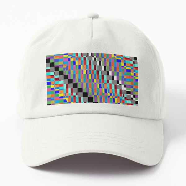 Horizontal Trippy Colored Squares Dad Hat