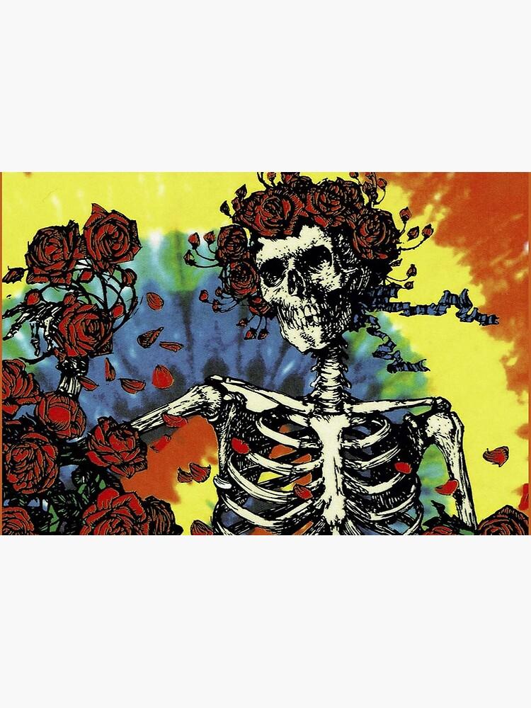 Tie Dye Skeleton Roses by Flakey-
