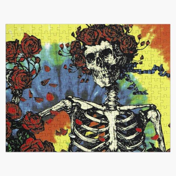 Tie Dye Skeleton Roses Jigsaw Puzzle
