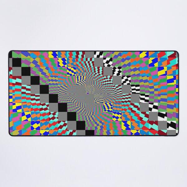 Trippy Colored Squares Desk Mat