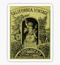 Vintage poster - California Vintage Sticker