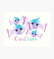 Cand'icorn - Kawaii Candy Unicorn Art Print
