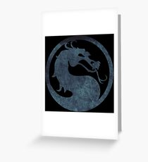 °GEEK° Mortal Kombat Logo Greeting Card