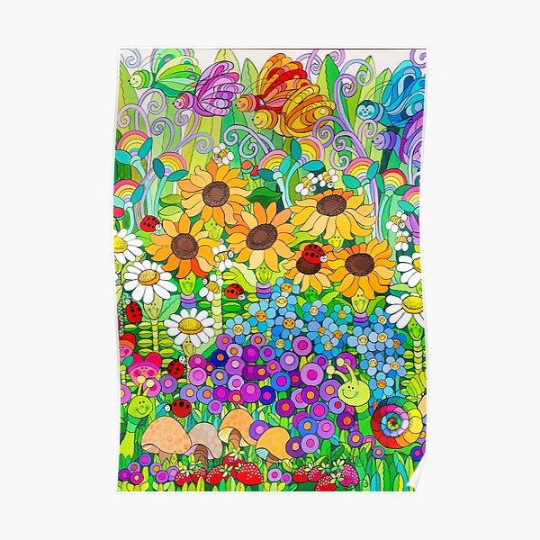 Ladybug Garden II Poster