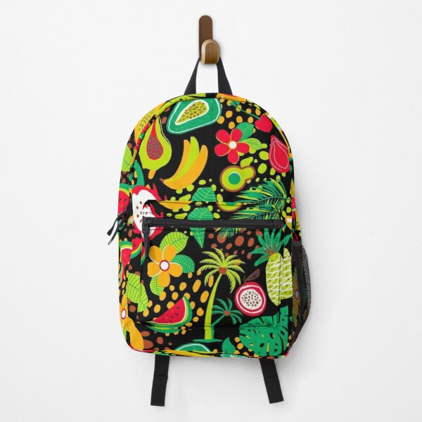 Hawaiian pattern with tropical fruits and flowers Backpack