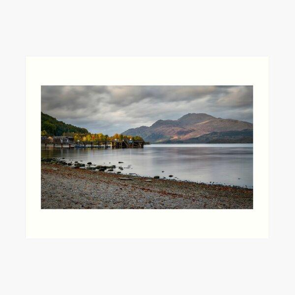 Loch Lomond in Luss Art Print