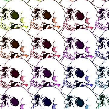 Rainbow skulls by sislord