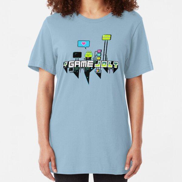 Kikkerstein Game Jolt Logo Slim Fit T-Shirt