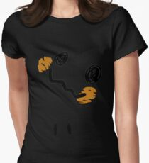 Mimikyu Face Tilted w Eyes - Pokemon Womens Fitted T-Shirt