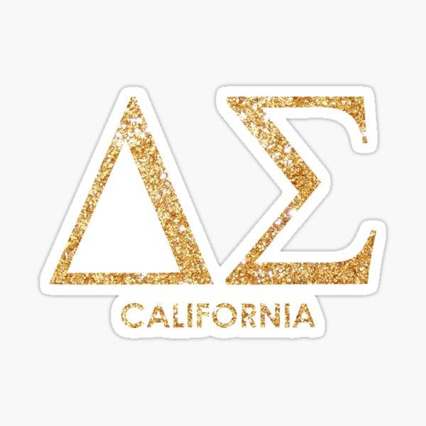 Gold Glitter w/ California Sticker