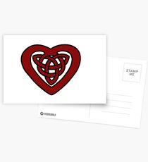 Red Celtic Knot Heart Postcards