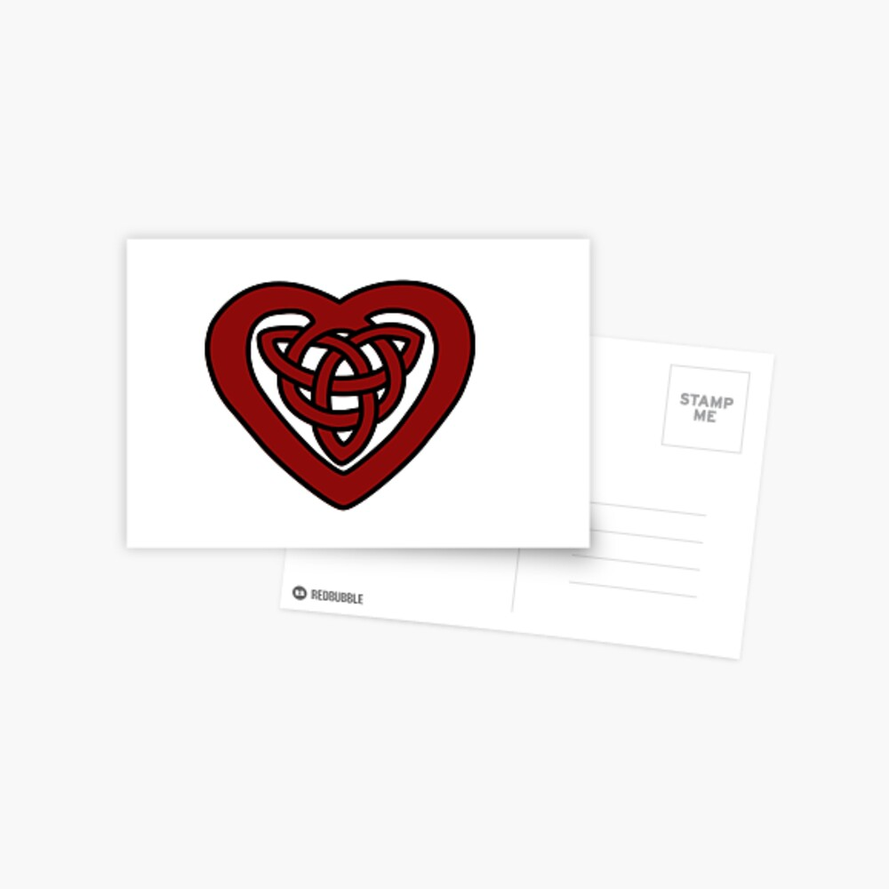 Red Celtic Knot Heart Postcard