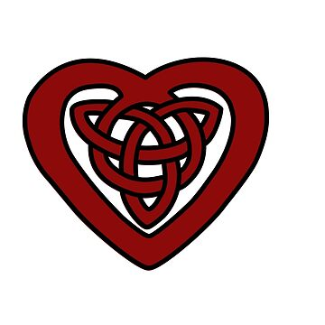 Red Celtic Knot Heart by feisanista