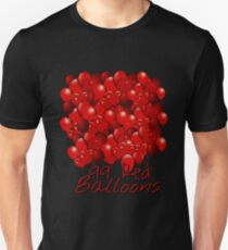 99 rote Ballons Slim Fit T-Shirt