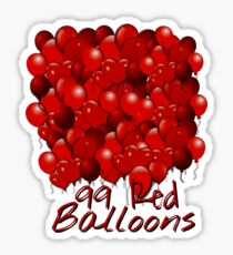 99 Red Balloons Art Sticker
