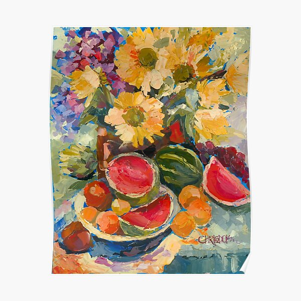 Sunflowers and Watermelon Poster