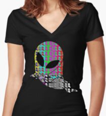 Acid Standby Spaceghost Women's Fitted V-Neck T-Shirt