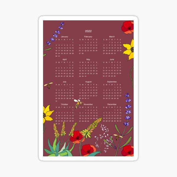Poetry In Ink 2022 Calendar Sticker
