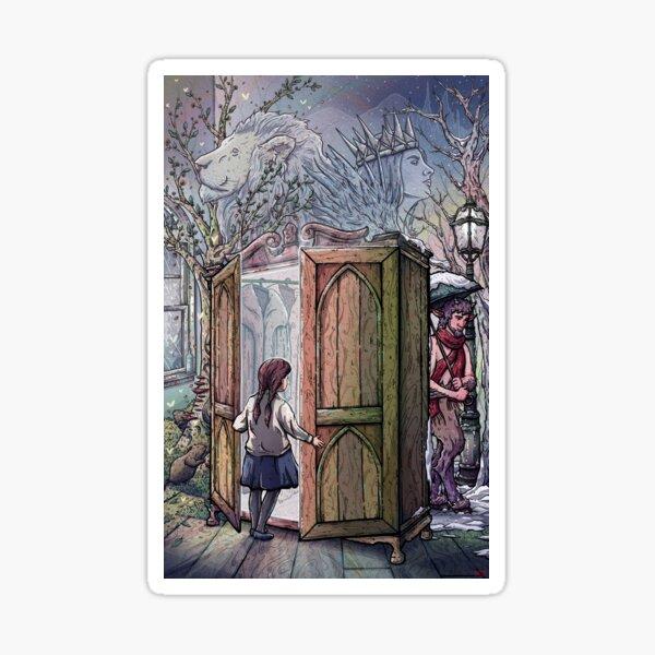 Lucy's Discovery, Narnia Fan Art Sticker