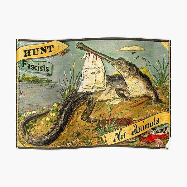 Antifa Gharial - Crocodile & Antifascism Poster