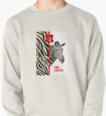 Zebra Christmas Card Pullover