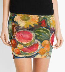 Sunflowers and Watermelon Mini Skirt