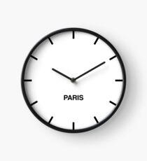 Newsroom Wall Clock Paris Time Zone Clock