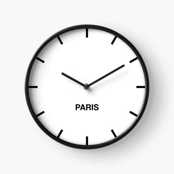 Horloge murale de la salle des nouvelles du fuseau horaire de Paris Horloge