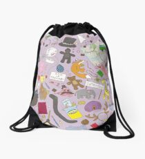 Boosh pattern purple Drawstring Bag