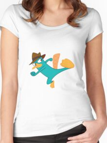 Perry the Platypus Agent P  Women's Fitted Scoop T-Shirt