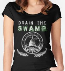 Drain the Swamp Pro Trump Apparel Women's Fitted Scoop T-Shirt