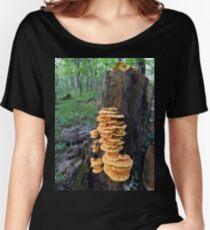 Yellow Shelf Mushrooms Women's Relaxed Fit T-Shirt