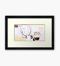 Hot chocolate and marshmallow Framed Print