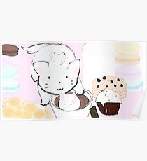 Hot chocolate and marshmallow Poster