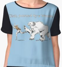 William Shakespeare's Star Wars: Exit, pursued by Wampa Chiffon Top