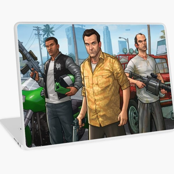 GTA V - Franklin, Michael, Trevor Grand Theft Gaming Art Laptop Skin