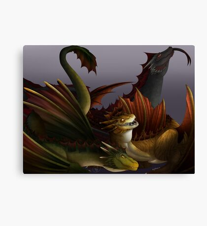 Dragons Three! Canvas Print