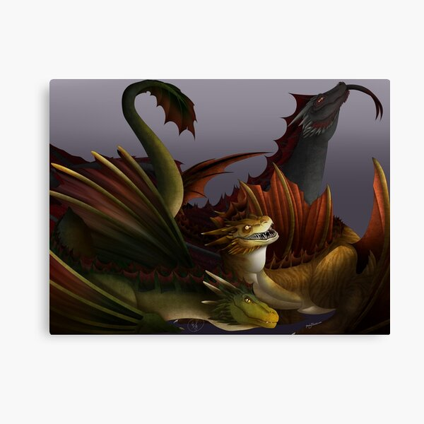 Dragons Three! Canvas Print